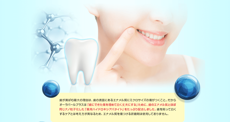 歯にできた傷を埋めて白く丈夫にする